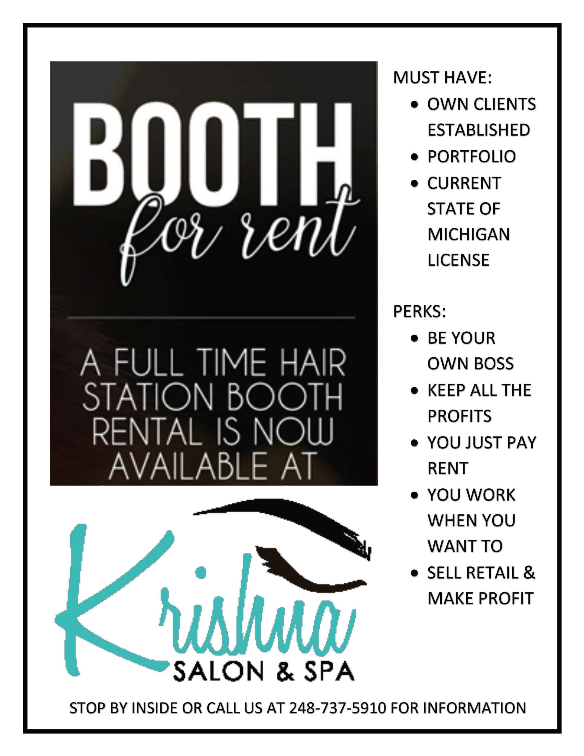 Booth for Rent